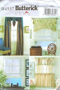 Butterick 4537 Sewing Pattern Cafe Curtains Valance Shades Window Treatment