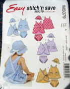 Easy Stitch 'N Save - M5079 - Infants' Dresses, Panties and Hats - Vintage Pattern - Size A