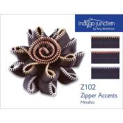 Indygo Junction Metallics Zipper Accents