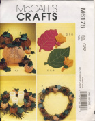 McCall Crafts Sewing Pattern 6178 - Use to Make - Pumpkin Decorations - Pumpkins in 3 Sizes, Ornament, Placemats, Napkin, Napkin Rings