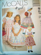McCall's 8127 Girls Party Dress and Pinafore Size 6-7-8 Wedding, Flower Girl