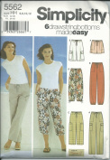 Simplicity 5562 Pattern Misses Pants and Shorts Each In Two Lengths Size HH 6,8,10,12