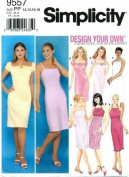 Simplicity 9557 Sewing Pattern Misses Design Your Own Summer Halter Dress Size 12 - 18 - Bust 34 - 40