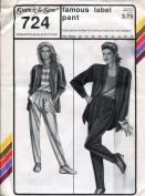 Stretch & Sew Pattern 724 ~ Ladies' Famous Label Pant ~ Hip 32-48