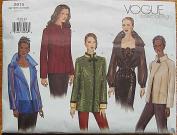 Vogue 2615 Sewing Pattern ~ Misses' Jacket, Sizes 8-10-12