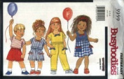 Busybodies 3959- Toddlers'/Children's Dress, Top, Shorts & Pants Pattern - Size 1-2-3