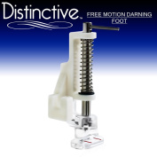 Distinctive Free-Motion Darning Quilting Sewing Machine Presser Foot - Fits All Low Shank Singer, Brother, Babylock, Euro-Pro, Janome, Kenmore, White, Juki, New Home, Simplicity, Elna and More!