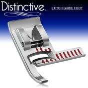Distinctive Stitch Guide Sewing Machine Presser Foot - Fits All Low Shank Snap-On Singer*, Brother, Babylock, Euro-Pro, Janome, Kenmore, White, Juki, New Home, Simplicity, Elna and More!