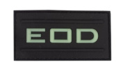 EOD Glow in the Dark PVC hook and loop Patch - Black