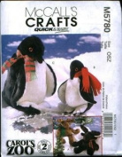McCall's Crafts Moose And Penquins Pattern M5780