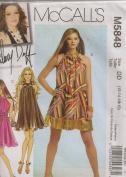 McCall's Sewing Pattern M5848 Hilary Duff Misses' Dress & Sash, DD
