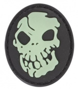Skull Glow in the Dark PVC Matrix hook and loop Morale Patch