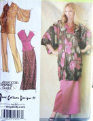 OOP Simplicity Pattern 4291. Misses XXS; XS; S; M Lined Kimono In 2 Lengths; Top; Pull-on Pants & Skirt