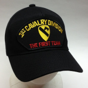 "US Army 1st First Cavalry Division ""The First Team"" Ball Cap Patch Hat Division OEF OIF"