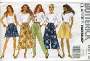 Butterick Classics Pattern 6075 ~ Misses' Skirt, Split Skirt & Pants ~ 12-14-16