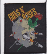 Guns N Roses Bullets and Skull Rare Iron on Embroidered Music Patch