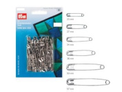 PRYM 085201 Safety pins with coil hardened steel 38mm, 12 pieces