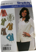 Simplicity 3990 Pattern Misses Shirts with Front Variations Size FF 18W-24W