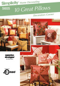 Simplicity Home Decorating #5605 - 10 Great Pillows - Pattern