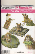 Simplicity Sewing Pattern 3960 - Use to Make - No-Sew Simple & Easy Pet / Dog Accessories in Three Sizes - S, M, L