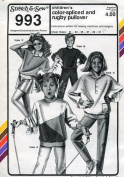 Stretch & Sew Pattern 993 ~ Children's Colour-Spliced Rugby Pullover Top ~ Chest 21-31