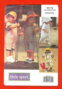 UNCUT/OOP VOGUE SEWING PATTERN 8579 - TODDLERS' JUMPSUIT & HATS SIZES