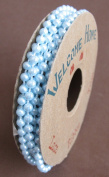 Welcome Home Craft SPOOL of moulded 'PEARLS' on STRING 6 FEET Long BABY BLUE Colour