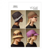 Vogue Patterns V8941 Hats Sewing Template, All Sizes
