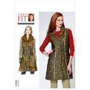 VOGUE PATTERNS V1318OSZ Misses' Vest and Detachable Collar Sewing Pattern, All Sizes