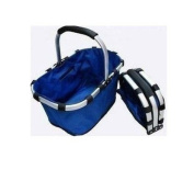Collapsible foldable picnic tote basket, lightweight with solid strick with Aluminium Alloy Frame