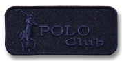 Exclusive Embroidered Motif 'Polo Club' dark blue, for ironing on