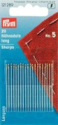 PRYM 121289 Hand sewing needles sharps with gold eye No. 5; 40 x 0.80 mm, 20 pieces