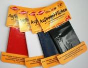 Original Kleiber Repair sheet/tape fine cotton dark grey-coloured, 11.7x2.34 inch / 30x6cm