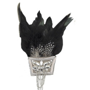 Rhinestone Brooches BW-113 Feather and Rhinestone Brooch with Pin