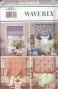 UNCUT & OOP BUTTERICK 5290 WAVERLY WINDOW SHADES SEWING PATTERN