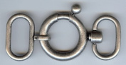 Necklace Latch Clasp in Antique Silver Finish