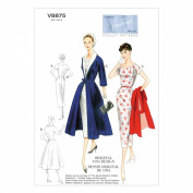 VOGUE PATTERNS V8875 Misses' Dress/Belt/Coat and Detachable Collar Sewing Template, Size B5