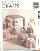 Doll Furniture For 29cm - 32cm Fashion Dolls McCall's Crafts Sewing Pattern 8140