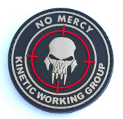 No Mercy Kinetic Working Group PVC IFF hook and loop Morale Patch,