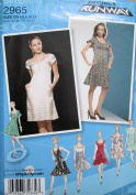 Simplicity 2965 Party Dress Sewing Pattern Project Runway Misses Size 4-6-8-10-12