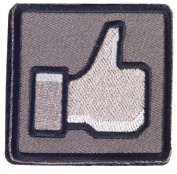 """Matrix """"Thumbs Up"""" IFF hook and loop Patch - Black/Grey"""