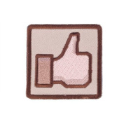 """Matrix """"Thumbs Up"""" IFF hook and loop Patch - Tan/Brown"""