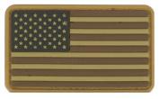 US Flag PVC hook and loop Rubber Patch - Regular / Multicam