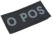 Matrix Military Spec. 50mm Blood Type Patch w hook and loop O POS