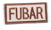 """Matrix """"FUBAR"""" IFF hook and loop Patch - Tan Colour"""