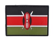 Kenya Flag PVC hook and loop IFF Patch