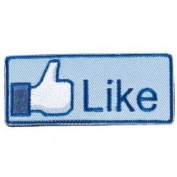 """""""Like"""" Logo Blue/White IFF hook and loop Morale Patch"""
