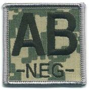 Matrix ACU Square Blood Type Patch - AB NEG