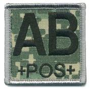 Matrix ACU Square Blood Type Patch - AB POS