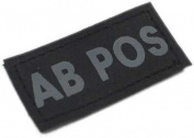 Matrix Military Spec. 50mm Blood Type Patch w hook and loop AB POS